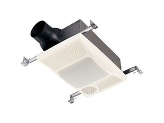 Broan 100Hl Directionally Adjustable Bath Fan with Heater and Incandescent light