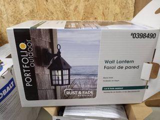 portfolio outdoor wall lantern rust and fade resistant