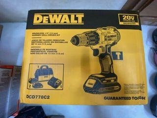 Dewalt Brushless Hammer Drill driver Kit   Dcd778c2