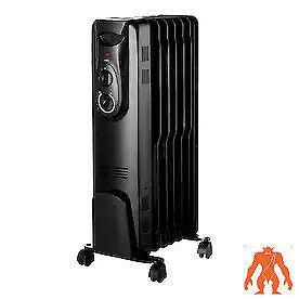 Omniheat 1500 watt Oil filled Radiant Flat Panel Electric Space Heater 1299184
