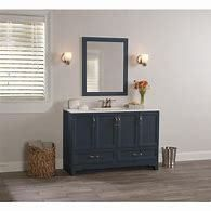 Style Selections 48 5 in Navy Single Sink Bathroom Vanity with White Cultured Marble Top