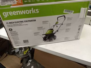 Greenworks 11 inch Corded Electric Cultivator Tl08b00