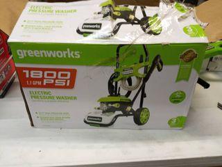 Greenworks 1800 PSI electric pressure washer