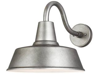 Sea Gull lighting Barn light 1 light Weathered Pewter Outdoor Wall Mount lantern Sconce with lED Bulb