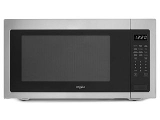 Whirlpool   2 2 Cu  Ft  Microwave with Sensor Cooking   Stainless steel