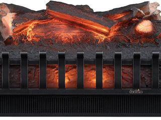 Greentouch 23 in W 5100 BTU Black Electric Fireplace logs