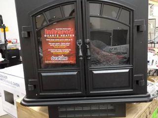 Electric Stove 5200 Btu Black Metal Infrared Quartz Thermostat Portable Unit