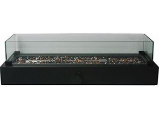 Black Portable Tabletop Steel liquid Propane Firebowl