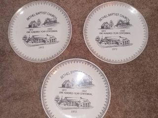 lot of 3 Vintage Bethel Baptist Church Plates