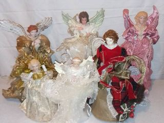 lot of 6 Christmas Angels