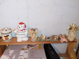 lot Of Assorted Household Decorations 2 Cookie Jars  Angels Etc