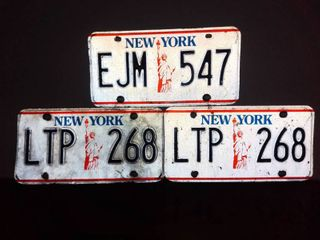 lot of 3 New York license Plates