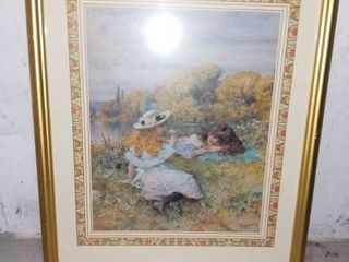 W  Coleman Art Print Girls by the lake