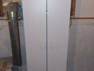 White Storage Armoire
