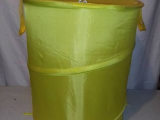 Collapsible Yellow Nylon laundry Storage Container