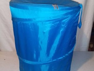 Collapsible Blue Nylon laundry Storage Container