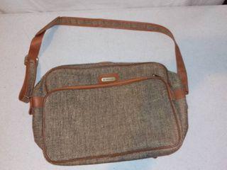 Vintage Samsonite Special Collection Tweed Small Travel Bag