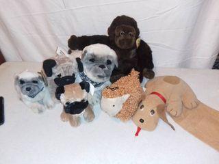Stuffed Animal lot Pound Puppy   Pugs   Gorilla