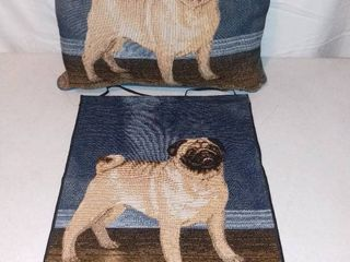 Pug Pillow and Tapestry by Picken
