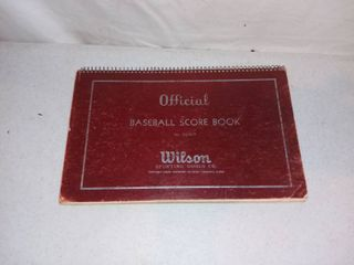 Vintage Wilson Baseball Score Book