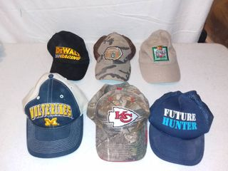 lot of 6 Hats Chiefs