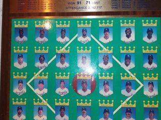 1985 Royals World Series Championship Plaque