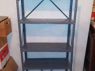 Nice 5 Tiered Metal Garage Shelf In Nice Shape