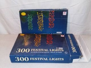 Two Sets of 300 Indoor Outdoor Festival lights