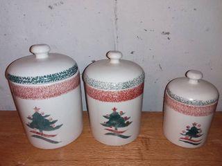 3 Piece Christmas Tree Container Set