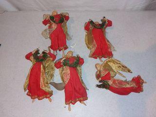 5 Christmas Angel Ornaments