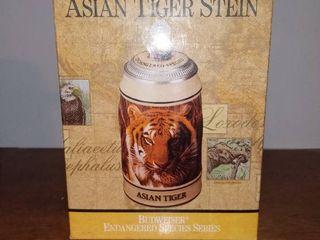 Budweiser Asian Tiger Stein With Box 1990