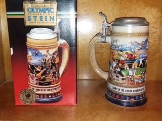 Vintage 1988 Olympic Summer Games Stein limited Edition