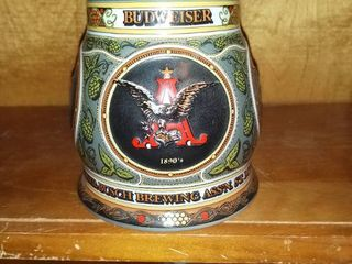 Very Nice Budweiser Stein A  Eagle Series