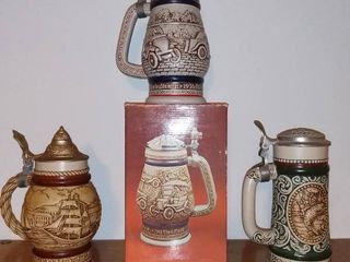 lot of 3 Avon Steins   Model T   Rainbow Trout   Sailing Ships