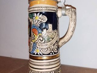 Vintage German Beer Stein With Swiss Musical Movement   MAPSA