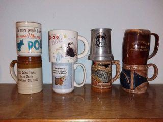 lot of 8 Mugs