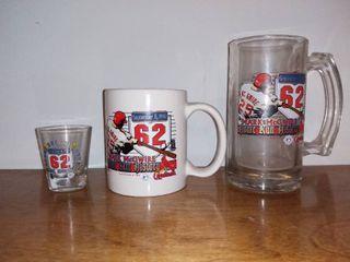 Mark Mcgwire Home Run History Mug Beer Stein and Shot Glass