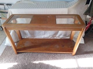 Nice Sofa Table With Double Glass Top