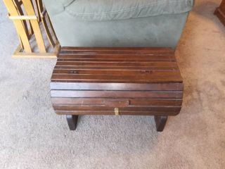 Nice Wooden Barrel Type Chest In Great Condition