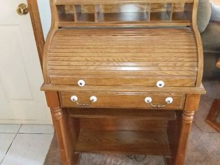Nice Small Roll Top Desk In Great Condition Contents Not Included