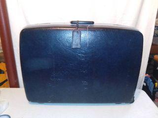Vintage Samsonite Contour II Navy Blue Suitcase