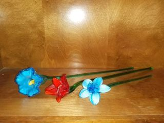 3 Glass Flowers