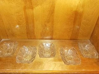 lot Of 5 Vintage Snack Or Candy Dishes