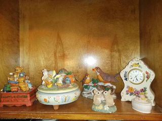 6 Piece lot Of Household Decorations 2 Music Boxes Etc