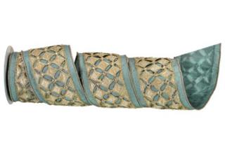 Regency International 4x5 Jeweled Diamond Dupion Wired Ribbon