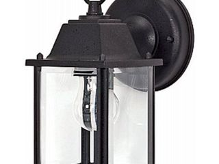 Satco Products 60 3465 9 in  Cube Wall lantern   Textured Black