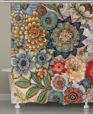 laural Home Boho Bouquet Shower Curtain Bedding