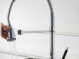 Pull down Stainless 2 function Spray Swivel Kitchen Faucet