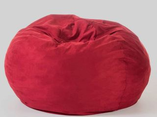Bates Traditional 5 Foot Suede Bean Bag  Cover Only  by Christopher Knight Home  Retail 87 99