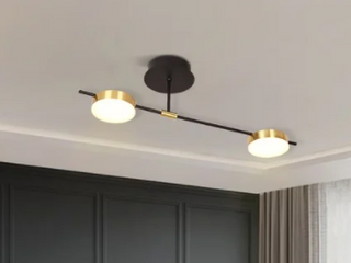 Modern Semi flush ceiling light 2 light chandelier stylish simple decorative chandelier   l32 87 W7 48 H11 8 IN  Retail 95 99